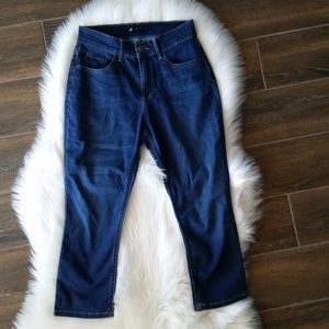 Lee Easy Fit Dark Wash Stretch Fit Cropped Jeans